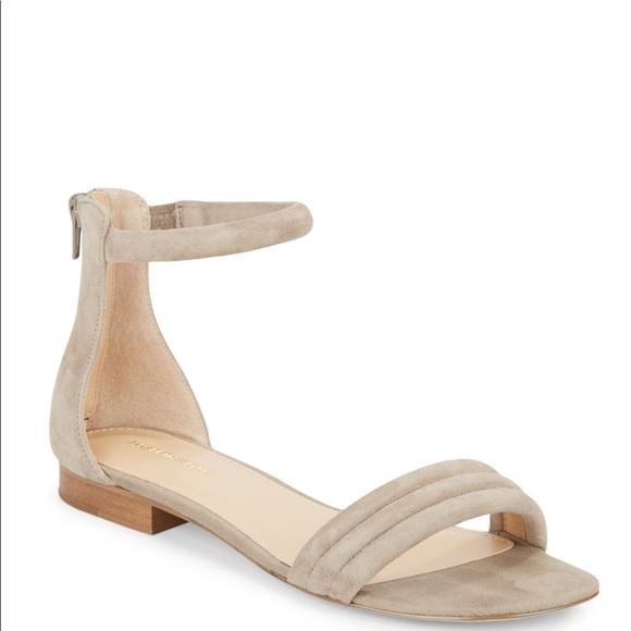 bdc087665d63 Saks Fifth Avenue Celine suede ankle strap sandals.  M 5b1d994e194dade168695445